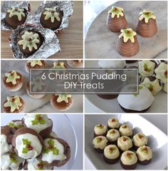 Christmas Pudding Treat Ideas: Meringue, Teacakes, Walnut Whips, Cakes, Cake Pops, Profiteroles and Marshmallows! A greta sweet pudding, treat or snack that make great gifts too! Country Christmas, Diy Christmas, Tea Cakes, Cupcake Cakes, Walnut Whip, Marshmallow Pops, Profiteroles, Christmas Pudding, Marshmallows