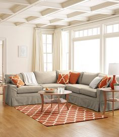Portland Sectional Sofa Set (slipcover)