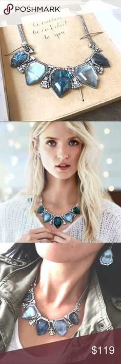 "C+I Northern Lights Statement Necklace Stunning statement necklace by Chloe and Isabel that features luxe abalone + shimmering blue mother-of-pearl and each stone is unique. NWT. ⚡️Price firm unless bundled⚡️  antique rhodium-plated nickel-free plating makes it hypoallergenic  16"" approx. length + 2"" extender lobster clasp abalone + blue mother-of-pearl inlay, clear crystal pavé Chloe + Isabel Jewelry Necklaces"