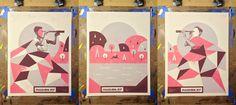 John Knoerl es otro de los diseñadores destacados en nuestros posts sobre pósters de música. Indie. Passion Pit
