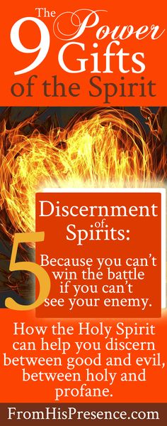 Discernment of spirits: one of the 9 power gifts of the Holy Spirit. Read how it works and how to use it here in this free blog series!