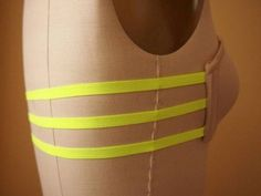 Make a three strap bra with an old bra for backless dresses/shirts.