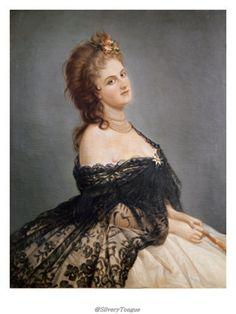 Portrait of Virginia Oldoini , Contessa di Castiglione (1835 – 1899). Mistress of Napoleon III.