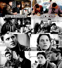 love the back to the future moment <3 #supernatural
