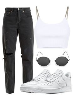 """✈️"" by maritkrijt ❤ liked on Polyvore featuring Alexander Wang, RE/DONE and NIKE"