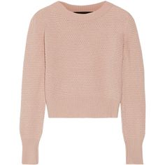 The Elder Statesman Cropped cashmere sweater (12.295 ARS) ❤ liked on Polyvore featuring tops, sweaters, jackets, jumpers, pink, wool cashmere sweater, textured sweater, cashmere jumpers, pink cropped sweater and cashmere sweater