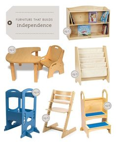 furniture pieces that builds your toddler's independence