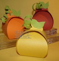 Cutest Little Pumpkins in the Patch! Create using the Curvy Keepsakes Box Thinlits Die from Stampin' Up! Click to order from my Blog!