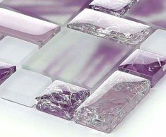 Purple mosiac tile back splash