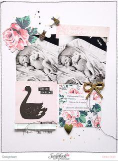 """#papercraft #scrapbook #layout - """"Hello Darling"""" - Maggie Holmes """"Bloom"""" / SBW Märzkit 2016 - von Ulrike Dold"""