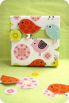 (A través de CASA REINAL) >>>>>  So cute to do with the same paper. Pop up!