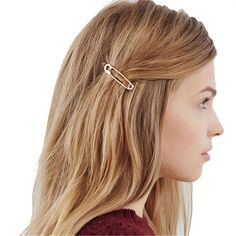 Special Chance for Hot Sale Chic Pin Shape Hair Clip Simple Metal Hairpins Hair Stick Girl Hair Accessories Hair Clips For Women Wedding Dai. Tween Hairstyles For Girls, Hairstyles With Bangs, Easy Hairstyles, Girl Hairstyles, Hair Grips, Hair Game, Hair Sticks, Girls Hair Accessories, Hair Ornaments