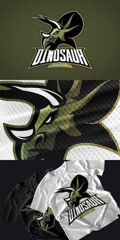 Dinosaur mascot sport logo design. Premium Icons E Sport, Sport Icon, Sport Inspiration, Logo Design Inspiration, Toys Logo, Logo Color, Colour, Mascot Design, Game Logo