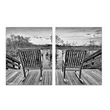 'Rocking Chairs' by Bruce Bain 2 Piece Photographic Print on Wrapped Canvas Set