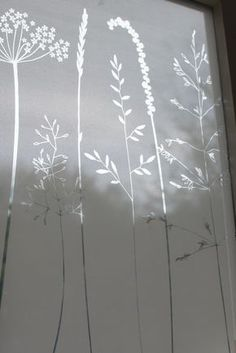 privacy window film In The Tall Grass window film by Hannah Nunn. It creates magical shadows when the sun shines through. Window Art, Window Ideas, Room Window, Backsplash Arabesque, Frosted Window Film, Window Privacy, Privacy Glass, Window Films, Window Design