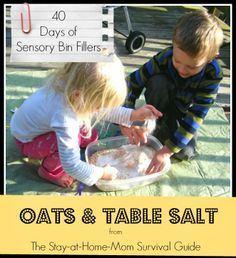The Stay-at-Home-Mom Survival Guide: 40 Days of Sensory Bin Fillers: Oats and Table Sal...