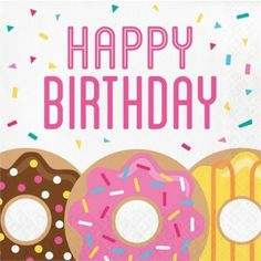 Doughnut Time Happy Birthday Lunch Napkins