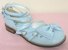 Angelic Pretty Ballerina Ribbon Separate Shoes - Size M [in Soda, Strawberry Milk, or Sesame]