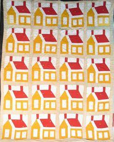 Vintage schoolhouse quilt.