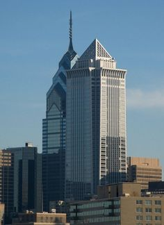 Mellon Bank Centre, Philadelphia, USA; 241.4, 54 fl; completion 1990