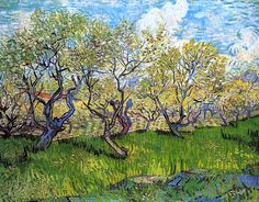 Orchard in Blossom / Vincent van Gogh - 1888