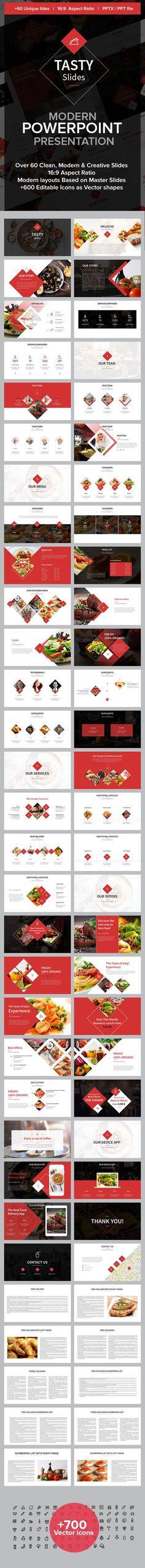 Tasty Slides Powerpoint Presentation — Powerpoint PPT #design #meal