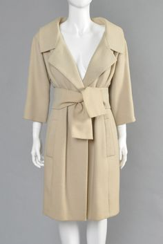 1959 Yves Saint Laurent for Christian Dior Haute Couture Coat | BUSTOWN MODERN
