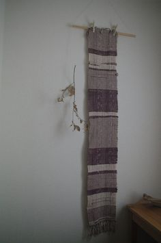 cat poems : handwoven scarf / silk by gakumoandoseera on Etsy Cat Poems, Silk Scarves, A Table, Hand Weaving, All Things, Tapestry, Texture, Handmade, Stuff To Buy
