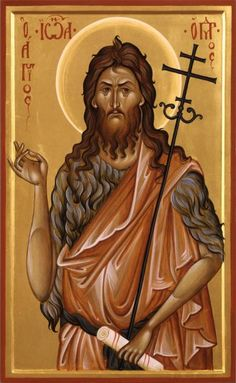 character inspiration John the Baptist - prophet archetype Byzantine Icons, Byzantine Art, Religious Icons, Religious Art, Christian Mysticism, Bible John, Church Icon, Christian Warrior, Religion