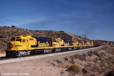 ATSF #5956 leads an all-cowl consist at Lugo, CA on November 19, 1984. Photo by Tom Carlson.