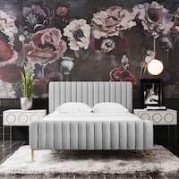 Shop Colette Platform Bed - On Sale - Overstock - 28165569 Bedroom Furniture Stores, Bed Furniture, Furniture Deals, Modern Furniture, Bedroom Decor, Modern Beds, Modern Contemporary, Bedroom Ideas, Cream Bedding
