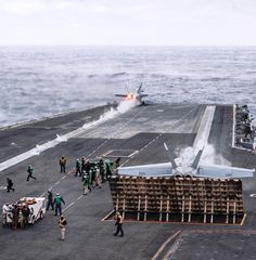 An F A-18E Super Hornet assigned to the Gladiators of Strike Fighter Squadron (VFA) 106 takes off from the flight deck of the Nimitz-class aircraft carrier USS George H.W. Bush