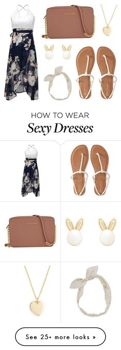 """""""Untitled #134"""" by xsharmaineex on Polyvore featuring Michael Kors, Aéropostale, J.Crew, Carole, Lipsy, summerdate and rooftopbar"""