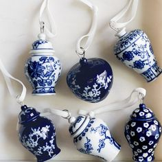 Blue And White Ornaments Roll Over Image To Zoom Blue And White Asian Christmas Ornaments – Home Decor Silver Christmas Decorations, Christmas Jars, White Christmas, Christmas Tree Ornaments, Tartan Christmas, Christmas China, Christmas Mantles, Christmas Villages, Victorian Christmas