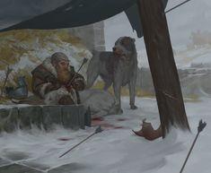 Winter story, Akim Kaliberda on ArtStation at https://www.artstation.com/artwork/4znVY