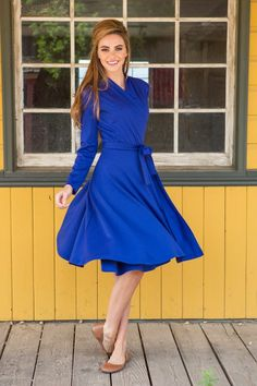 Margot Dress from Shabby Apple. LOVE this color, and wrap dresses are one of my favorite styles for nursing.