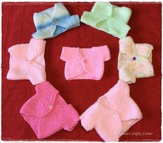 ideas knitting baby jacket free pattern sweets for 2019 Baby Cardigan Knitting Pattern Free, Knitted Baby Cardigan, Knit Baby Sweaters, Baby Knitting Patterns, Baby Patterns, Free Knitting, Baby Knits, Knitting Dolls Clothes, Baby Doll Clothes