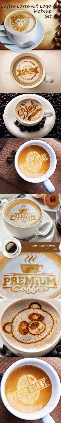 Caffee Latte Art Logo Mockup Set 8570523 » Free Special GFX Posts Vectors AEP Projects PSD Web Templates