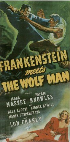 Frankenstein Meets The Wolfman (1943)  Screenplay by Curt Siodmak, starring Lionel Atwill, Bela Lugosi, Dwight Frye, Ilona Massey & Lon Chaney Jr.