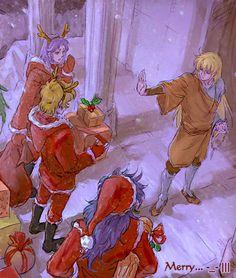 過聖誕節的聖鬥士們