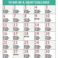 Fit im Alltag 30 Tage Challenge: Bauch Beine Po – Sixpack, ABs & Squads