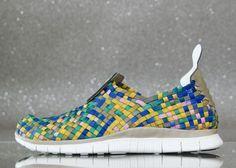 Nike Free Woven 4.0- Khaki, Stadium Green, Hyper Blue, and Ion Pink