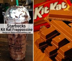 Full of chocolate flavor and crunch, the Kit Kat Frappuccino is a delicious chocolaty treat, much like it'spopular chocolate bar counterpart.