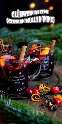 As you probably have heard me complaining about before, the winters here are rough. No, it's not the low temperatures or crazy blizzards. German Gluhwein Recipe, German Mulled Wine Recipe, Wassail Recipe, German Christmas Traditions, German Christmas Markets, Christmas Wine, Christmas Trimmings, Xmas, Cocktails
