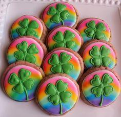 #Rainbow #Shamrock #Cookies by Cravings pinned by www.cookiecuttercompany.com