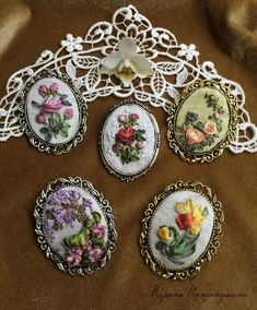 Wonderful Ribbon Embroidery Flowers by Hand Ideas. Enchanting Ribbon Embroidery Flowers by Hand Ideas. Ribbon Art, Ribbon Crafts, Red Ribbon, Silk Ribbon Embroidery, Embroidery Thread, Embroidery Patterns, Embroidery Techniques, Bead Art, Needlework