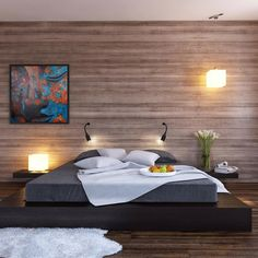 platform bed with built in end tables