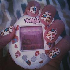 Tamagotchi nails!