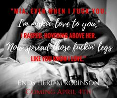 M. Robinson: Who is ready for Ends Here?! April 4th all your qu...