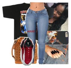 """she might have my time, but you gone always have my heart.❤️"" by lamamig ❤ liked on Polyvore featuring MCM and NIKE"